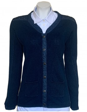 Piece of Blue Cotton Cardigan|Denim Collection|Irish Handcrafts 1