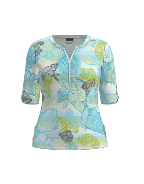 Barbara Lebek Leaf Print Top|Lebek Clothing|Irish Handcrafts