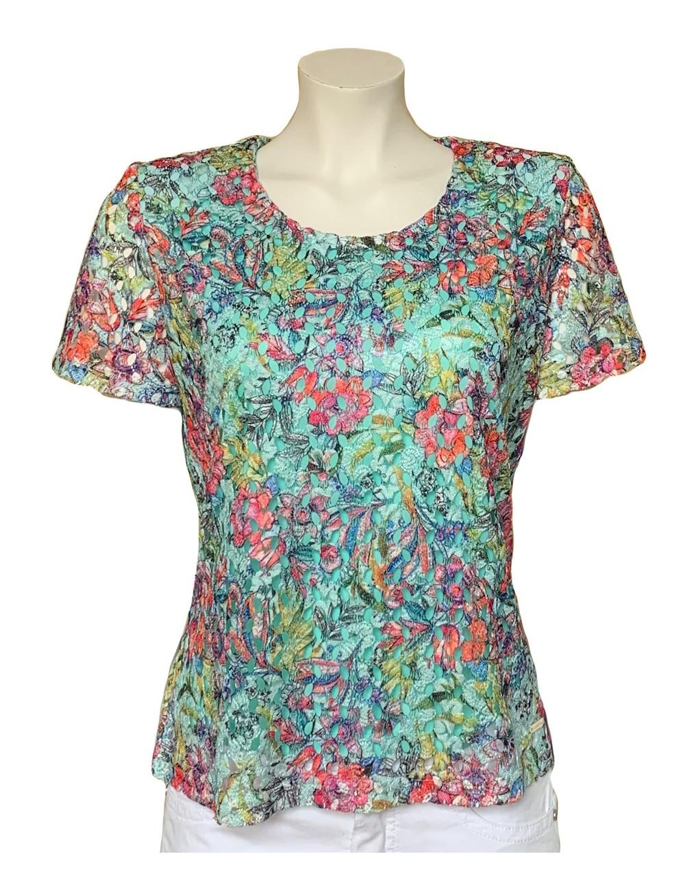 Olga Santoni Lace Summer Top  Olga Santoni Clothing Irish Handcrafts 1