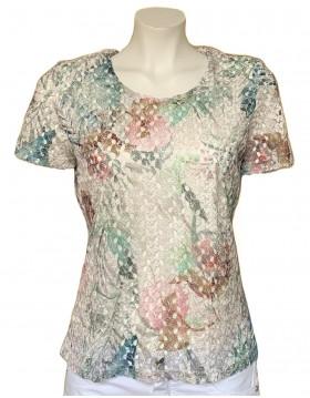 Olga Santoni Lace Summer Shirt with Undershirt|Olga Santoni Clothing|Irish Handcrafts 1