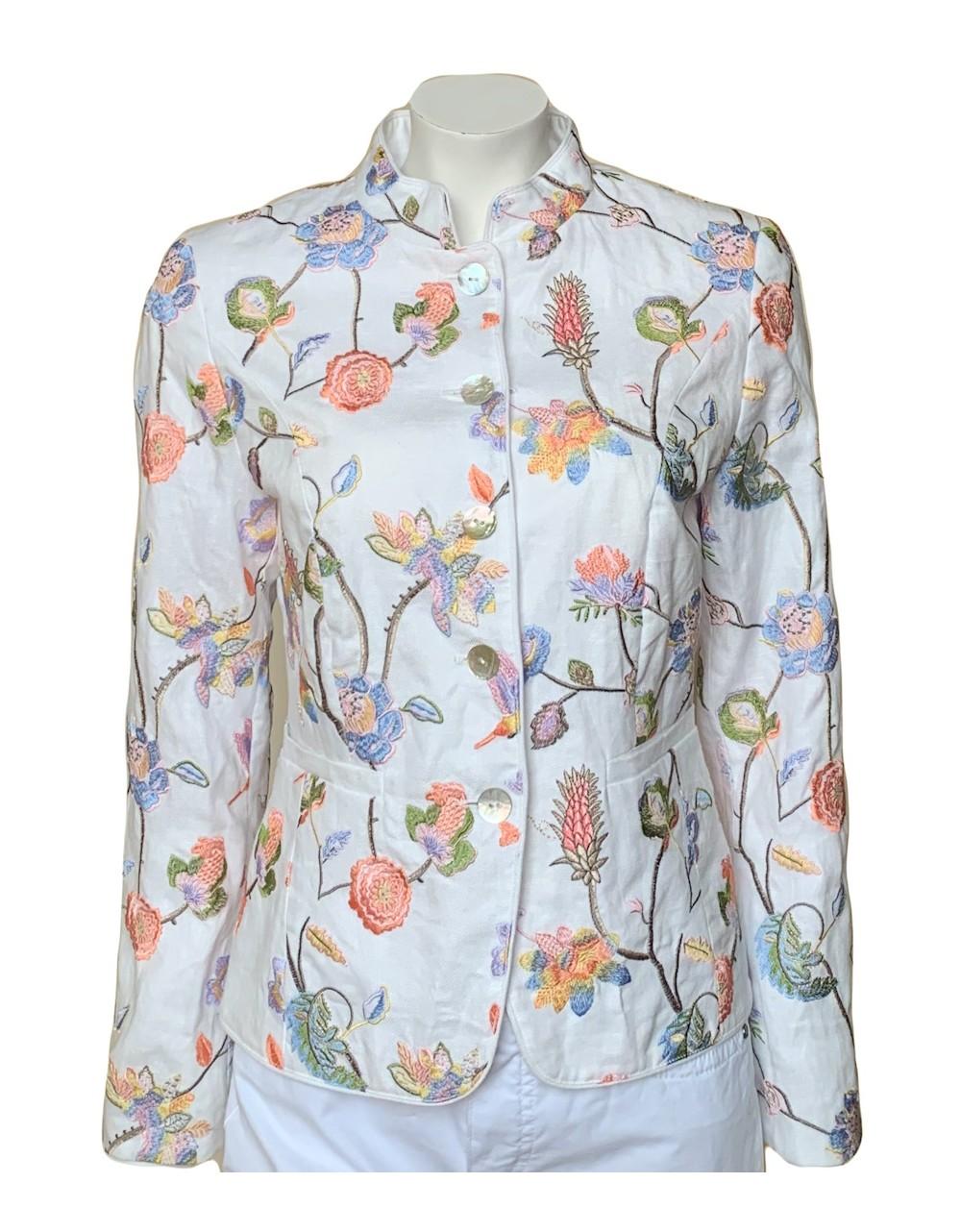 Rofa White Label Linen Jacket - Off White|Rofa Fashions|Irish Handcrafts 1