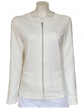 Barbara Lebek Off White shirt jacket|Lebek|Irish Handcrafts 1