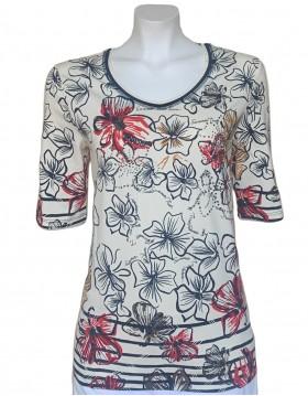 Barbara Lebek Floral Print Top|Tops Blouses & Accessories|Irish Handcrafts 1