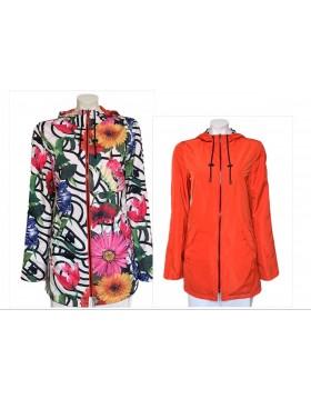 Rever Mile Reversible Coat Multicoloured And Orange|Irish Handcrafts 1