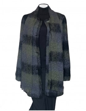 Donegal Design Mohair Green Coat With Scarf|Mohair Coats|Irish Handcrafts 1