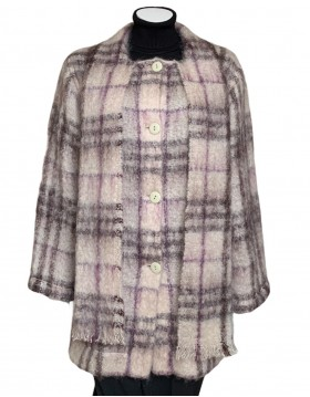 Donegal Design Mohair Light Green Coat With Scarf|Irish Handcrafts 1