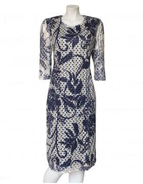 Olga Santoni Lace Dress in Dark Marino|Irish Handcrafts 1