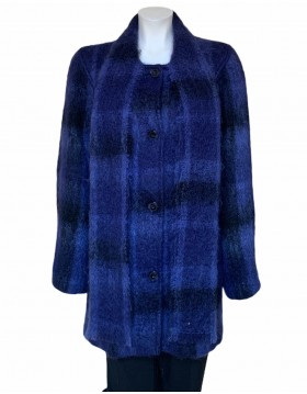 Donegal Design Mohair Midnight Blue Coat With Scarf |Mohair Coats|Irish Handcrafts 1