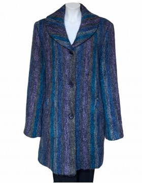 Donegal Design Heather stripe Mohair Coat|Mohair Coats|Irish Handcrafts 1