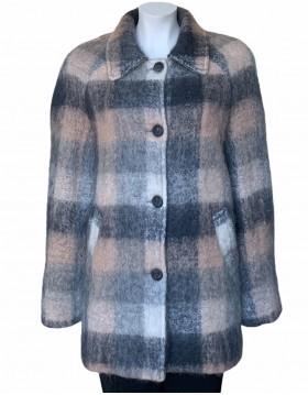 Donegal Design Grey/Beige Mohair Coat|Mohair Coats|Irish Handcrafts 1