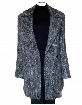 Donegal Design Grey Mohair Coat|Mohair Coats|Irish Handcrafts 1