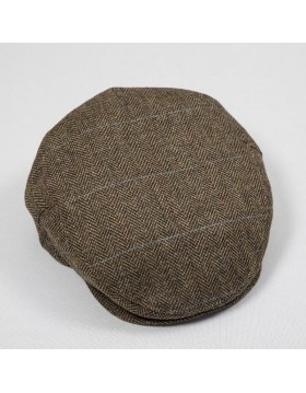 Tweed Cap Beige Brown Herringbone TCJ14|John Hanly Caps|Irish Handcrafts