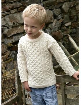 CREW NECK ARAN SWEATER FOR KIDS|Kids|Childrens Arans|Irish Handcrafts 1