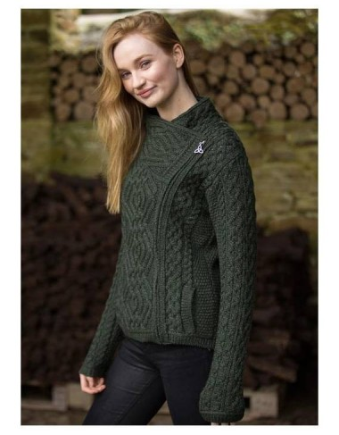 Aran Knit Side Zipper Jacket|Aran Cardigans|Irish Handcrafts -4