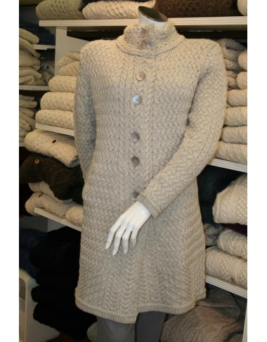 Lattice Cable Aran Coat|Irish Knitwear|Irish Handcrafts -1