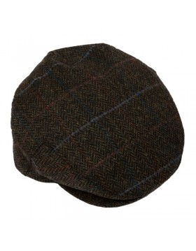 Tweed Cap Dark Brown Green Herringbone TCH58|Tweed Caps|Irish Handcrafts